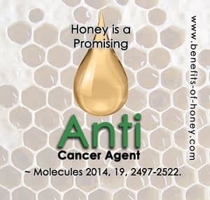 honey is anti-cancer poster