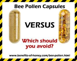 bee pollen capsules versus bee pollen granules