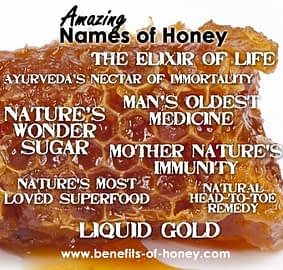 health benefits of honey and names of honey