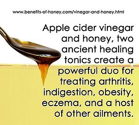 apple cider vinegar and honey poster